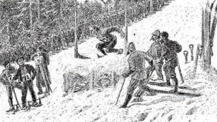 Sprunglauf Huseby Rennen am Holmenkollen 1888