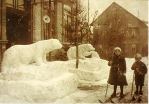 Brotterode mit Schneefiguren