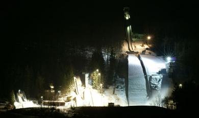 """Skisprungzentrum in der """"Werner Lesser II Skisprung Arena"""""""